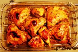 עוף בתנור עם סויה ודבש