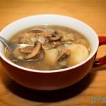 מרק פטריות ותפוחי אדמה