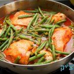 תבשיל עוף עם שעועית ירוקה